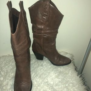 BCBG cowgirl boots